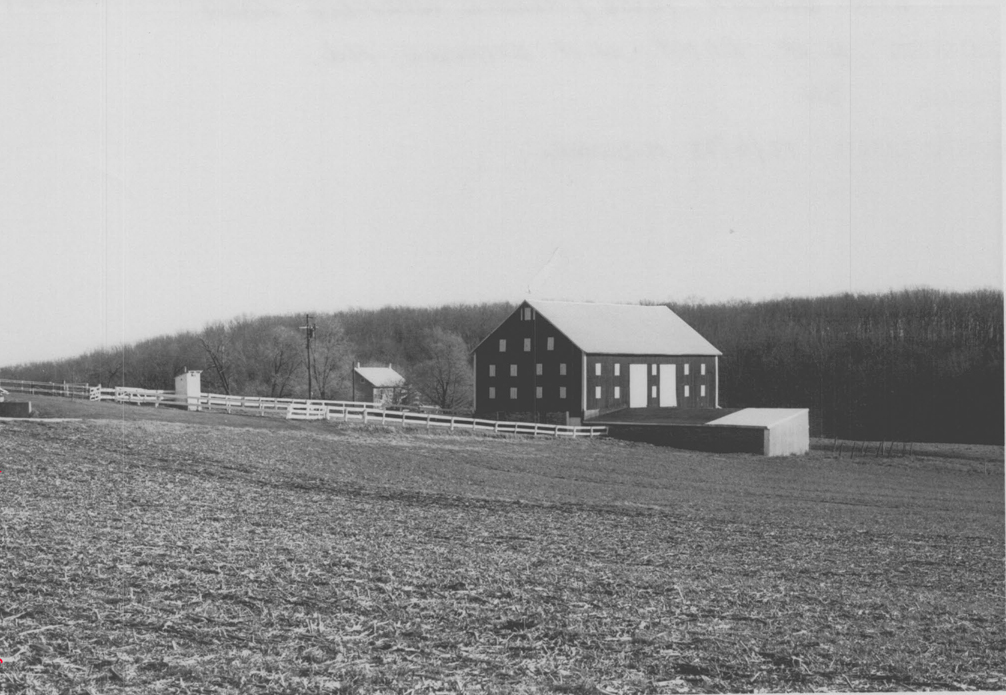 Bank barn, privy, and other buildings and structures photographed by M-NCPPC historian Mike Dwyer in 1973.