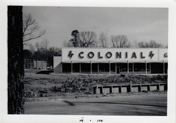 New Colonial store under construction, c.1964. Courtesy City of Decatur.