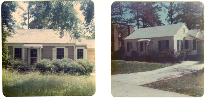 The Pierce urban homesteading home before and after. Undated photos courtesy of the Decatur Housing Authority.