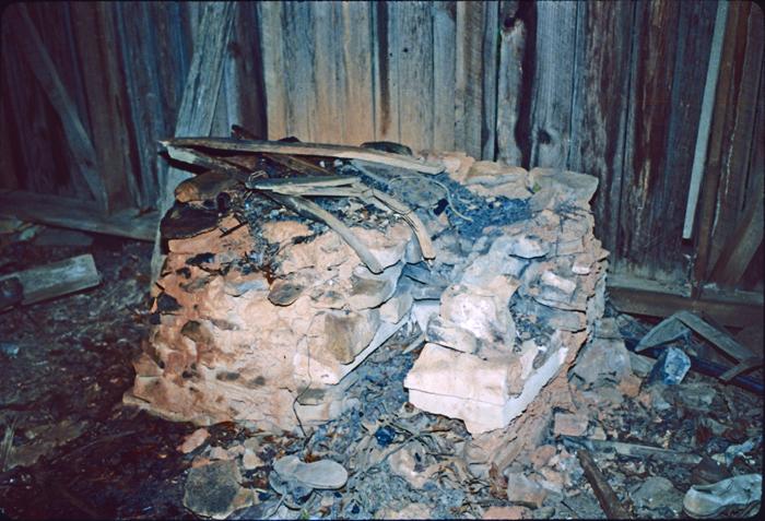 Due West Blacksmith Shop: Forge. October 1986.