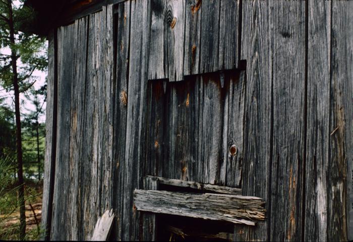Due West Road Blacksmith Shop (9Co246): Window, west facade. October 1986.