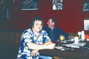 Eric King and Joel (J.T. Speed) Murphy at the Blind Willie's bar, Oct. 24, 1990. Photo by author.