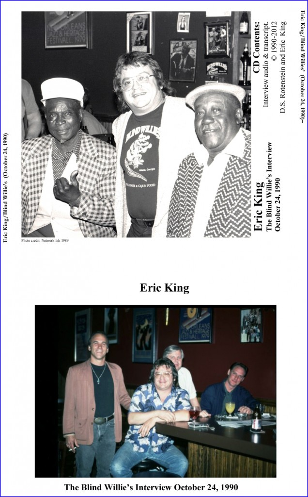 Eric King-CD Case insert