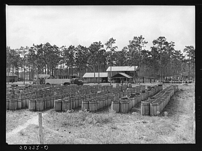 Turpentine still. North Florida. U.S. Farm Security Administration/Office of War Information Black & White Photographs.