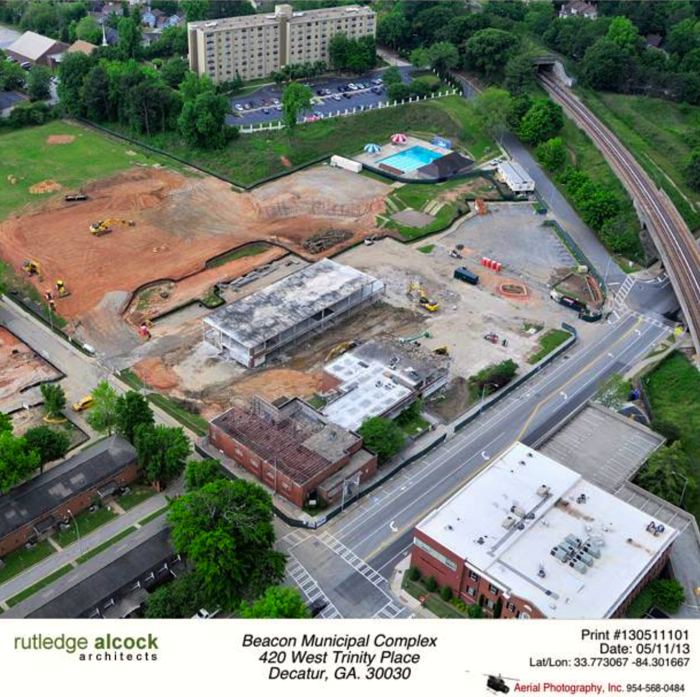 Beacon demolition, May 2013 aerial photo. Credit: Rutledge-Alcock Facebook page.