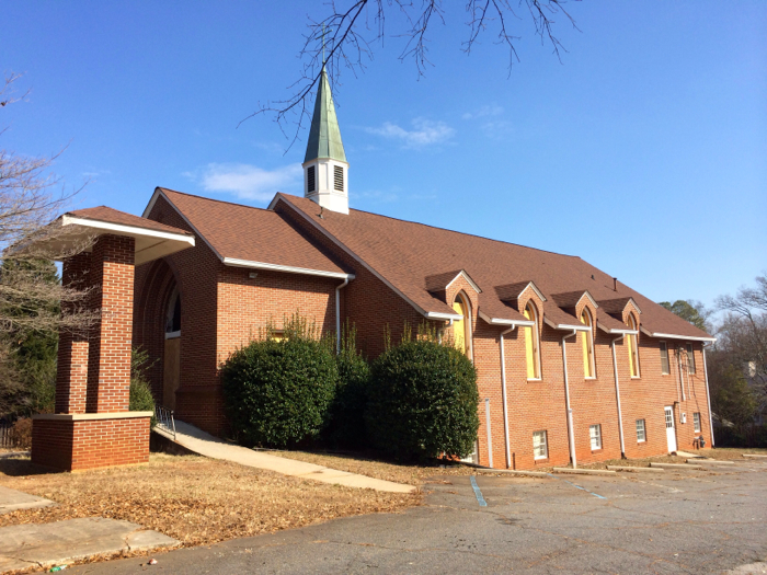 Former Antioch A.M.E. Church prior to demolition in early 2014.