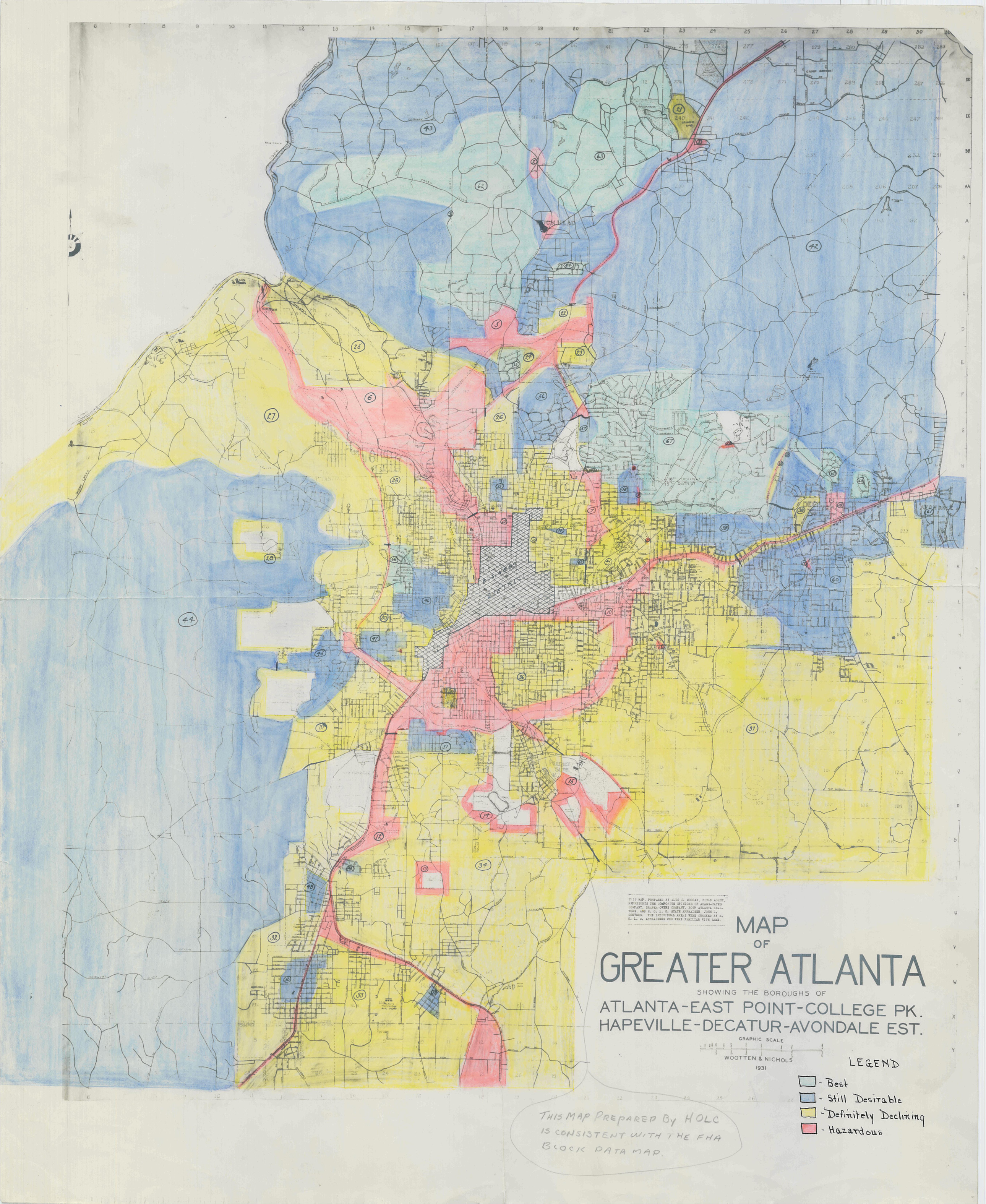 Redlining Atlanta The 1935 Map History Sidebar