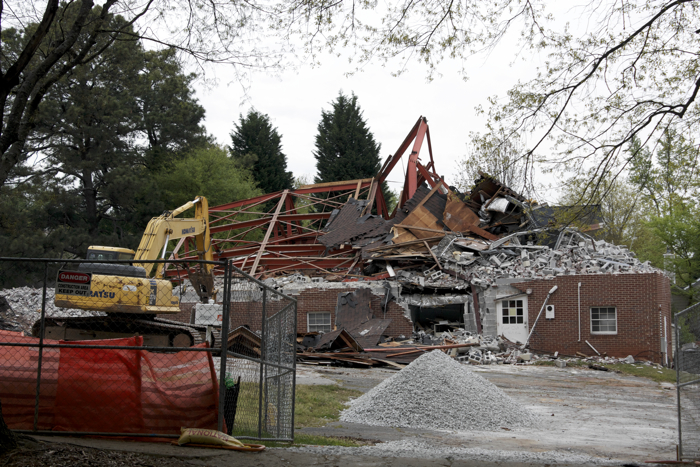 Former Antioch AME Church, demolished April 17-18, 2014.