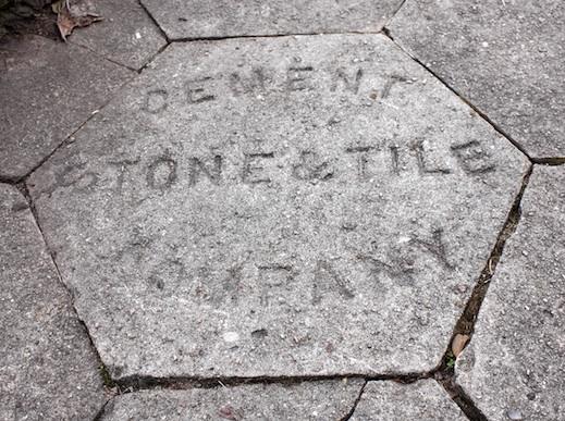 Hexagonal concrete sidewalk tile. Atlanta\u0027s Candler Park neighborhood. Photo by author. & The hex on our sidewalks | History Sidebar