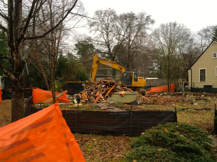 Oakhurst teardown, February 2014.