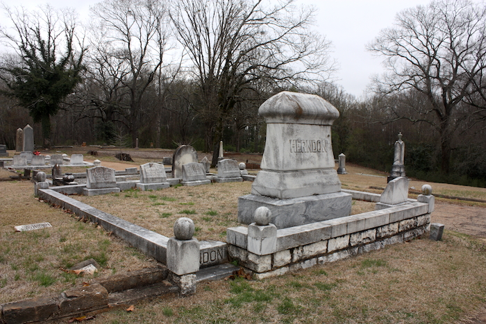 Herndon family plot. Photo by author, March 19, 2014.