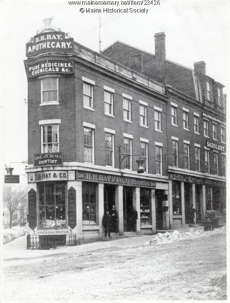 H.H. Hay building, Portland, ca. 1890. Credit: Maine Memory Network, Maine Historical Society.