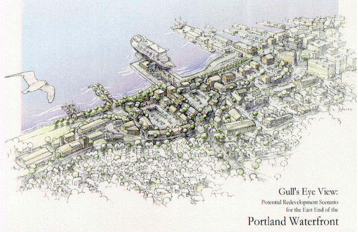 A Master Plan for Redevelopment  of the Eastern Waterfront. Credit: City of Portland.