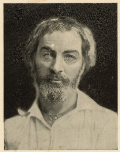 Walt Whitman, c. 1854. Credit: Library of Congress, LC-