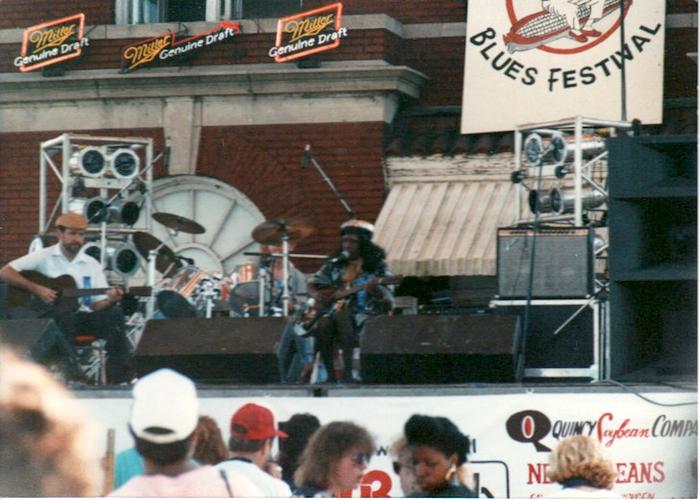 Jessie Mae Hemphill, 1990 King Biscuit Blues Festival. Credit: Main Street Helena.