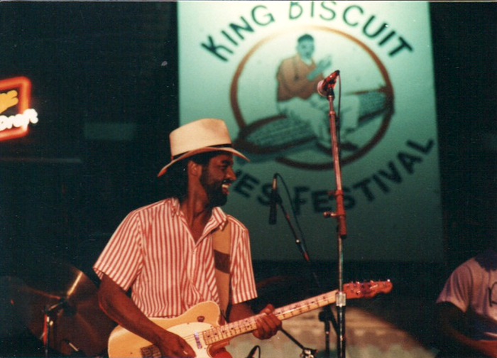 Jenny Neal, 1989 King Biscuit Blues Festival. Credit: Main Street Helena.