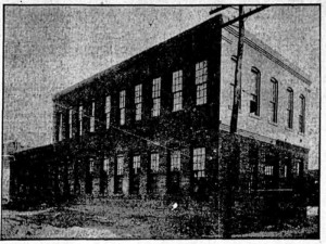 Trio Steam Laundry dry cleaning building shortly after its construction. Credit: The Atlanta Georgian Sept. 26, 1910.