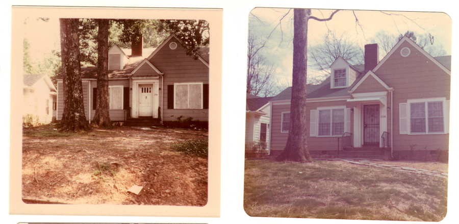 Vacant and foreclosed home in Decatur, Ga. (left) rehabilitated under the 1970s H.U.D. Urban Homesteading program (right). For a while H.U.D. was the largest single residential property owner in Decatur. Decatur Housing Authority photo.