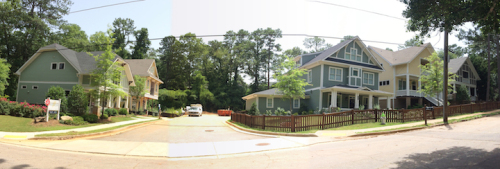 The Bungalows at Oakhurst Village (formerly 119 Lenore Street). Photographed July 2014.
