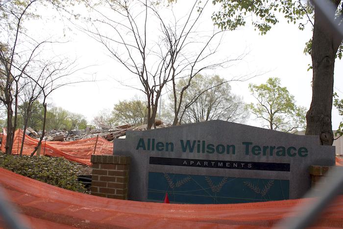 Allen Wilson Terrace demolition, 2014.