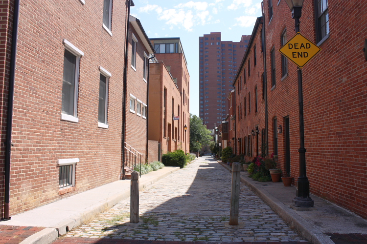 Welcome Alley, view to the east towards Homesteader Alley, Baltimore.