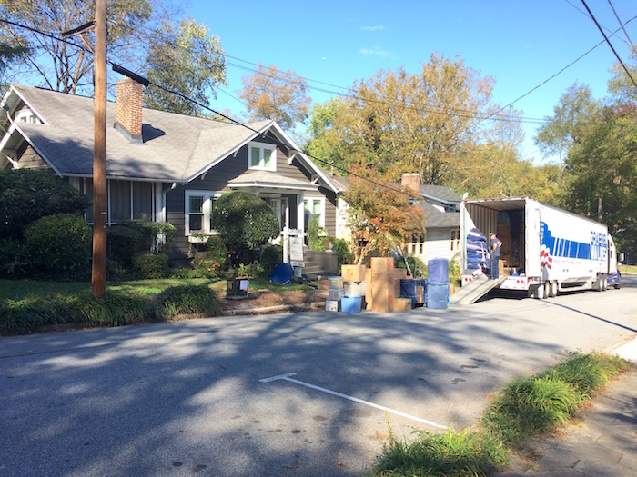 Moving day, Oct. 31, 2014.