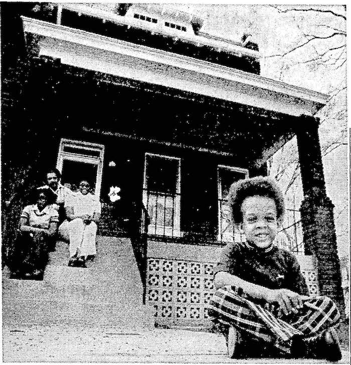 The same home in Northeast Washington after rehabilitation in the urban homesteading program. Credit: The Washington Star.