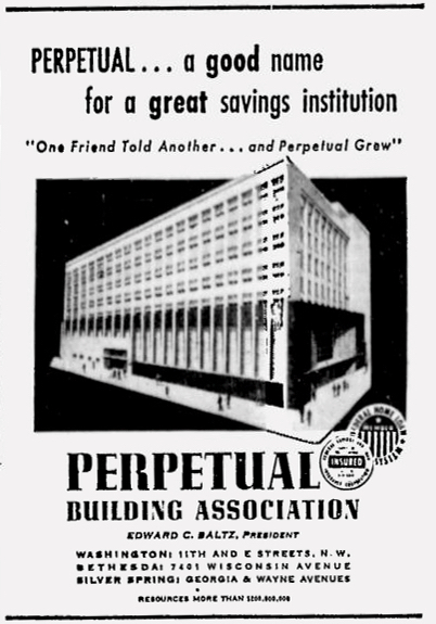 Perpetual Building Association advertisement, The Washington Afro-American, April 3, 1956.