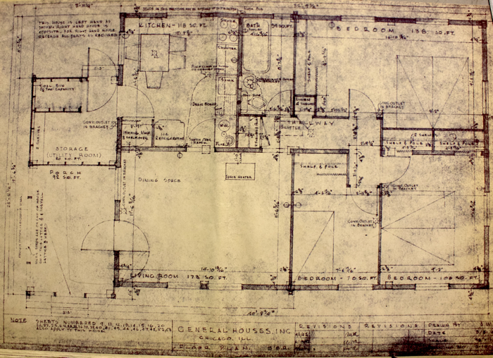 Three-bedroom Fairway house plan. Credit: National Archives and Records Administration.